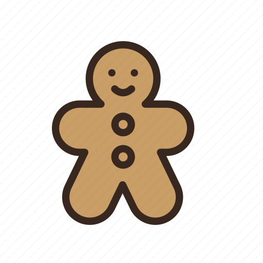 christmas, cookie, food, gingerbread, man, merry christmas, new year icon