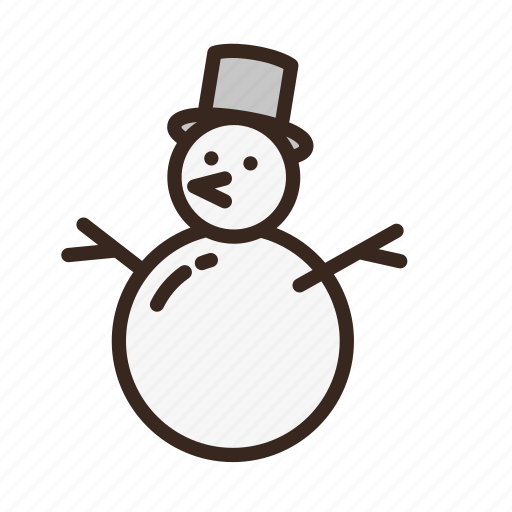 carrot, christmas, hat, man, merry christmas, new year, snow icon