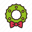 bow, christmas, decoration, merry christmas, new year, ribbon, wreath icon