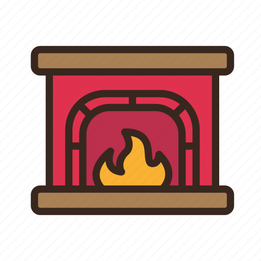 christmas, fire, fireplace, holiday, merry christmas, new year, warm icon