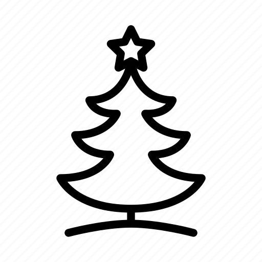 celebration, christmas, holiday, merry christmas, new year, star, tree icon