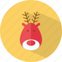 christmas, deer, santa, santa deer icon