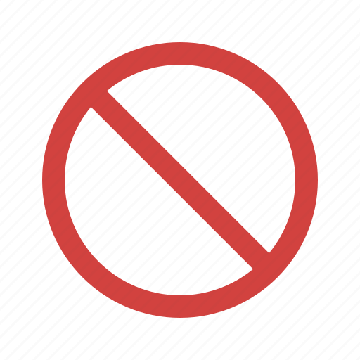 abort, block, cancel, sign, stop icon