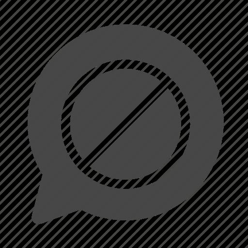 block, message, stop icon