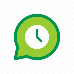 chat, message, pending, scheduled, timed icon
