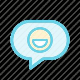 chat, emoji, emoticon, message, smiley icon