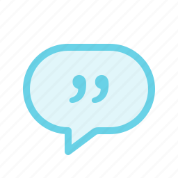 chat, comment, conversation, dialogue, message, quote icon