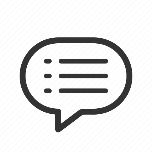 chat, list, message, messenger icon