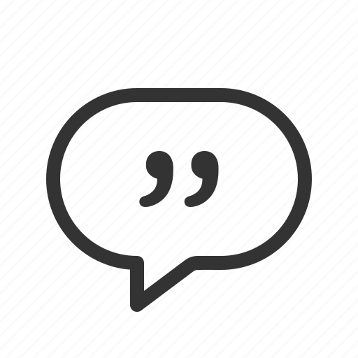 chat, message, messenger, quote icon