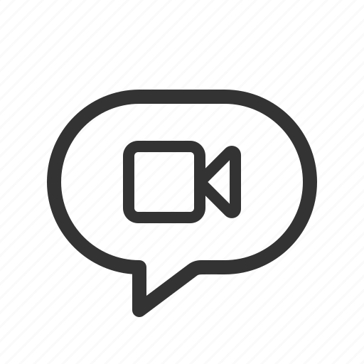 chat, message, messenger, video icon