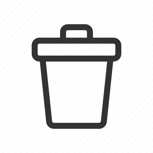 bin, delete, recycle, trash icon