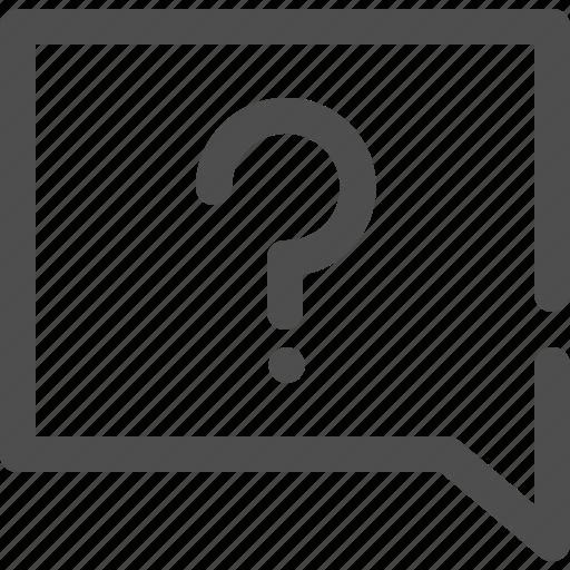 chat, communication, conversation, question, question mark, speech bubble, talk icon