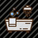 bathtub, bathroom, shower