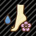 feet, massage, aroma, oil, spa