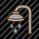 shower, bathroom, bath, bathtub