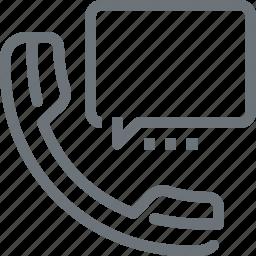 bubble, call, communication, conversation, phone, speech, talk icon