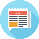 bubble, communication, message, news, newspaper, paper, speech icon