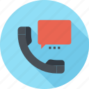 bubble, call, communication, conversation, phone, speech, talk icon