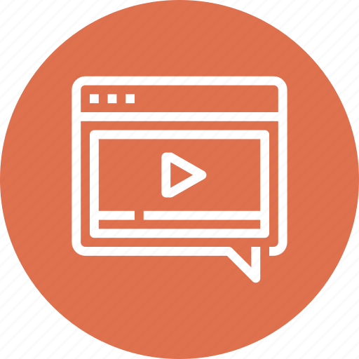 Bubble, communication, conversation, message, speech, video, web icon - Download on Iconfinder