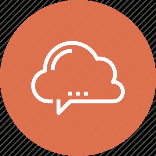 Bubble, chat, cloud, communication, conversation, speech, talk icon - Download on Iconfinder