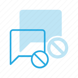 bubble, chat, disable, message icon