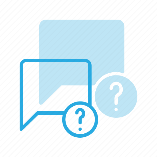 bubble, chat, message, question icon