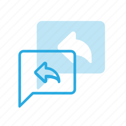 bubble, chat, message, reply icon