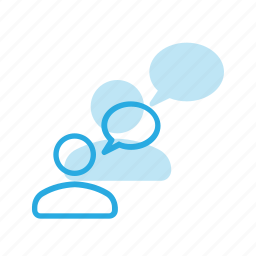 bubble, chat, message, user icon