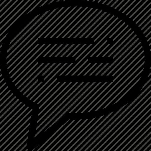 comment, conversation, discussion, message, speech bubble, support icon