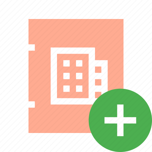 add, address book, business, contact, office icon
