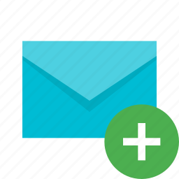 add, email, envelope, letter, mail, message, new icon