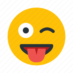 cheeky, emoticon, emotion, face, smiley icon
