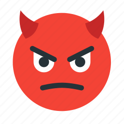 devil, emoticon, evil, face, halloween icon