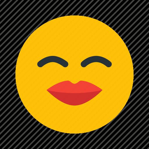 emoticon, kiss, lips, love, smiley icon