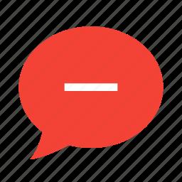 bubble, chat, comment, message, negative, talk icon