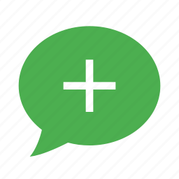 bubble, chat, comment, message, plus, positive, speech icon