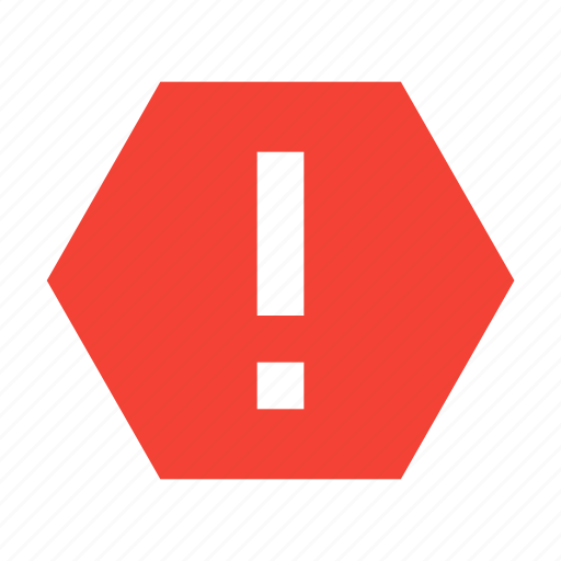 alert, attention, danger, junk, spam, warning icon