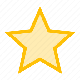 bookmark, favorite, rating, star, stroked icon