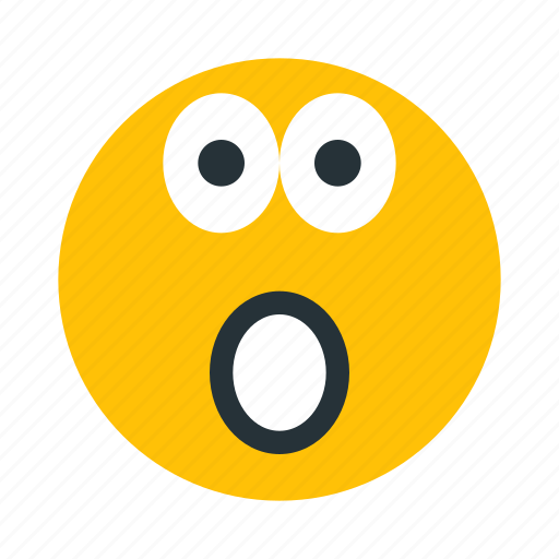 emoticon, face, shocked, surprise, surprised icon