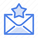badge, favorite, letter, mail, message, rating, star icon