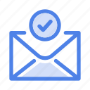 email, letter, mail, message, send, sent, success icon