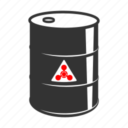 barrel, chemical, fuel, metall, oil, radiation, trash icon