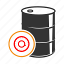 barrel, chemical, fuel, metall, oil, radiation, trash icon
