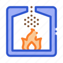 combustion, factory, metallurgical, process icon