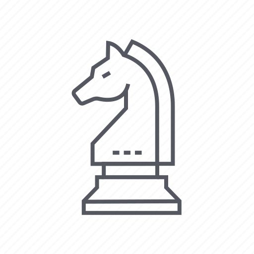 chess, knight, piece, strategy icon