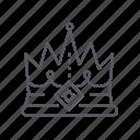 crown, king, kingdom, royal icon