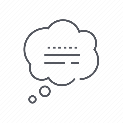 bubble, cloud, speech, thought icon