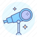 astronomy, space, stars, telescope icon