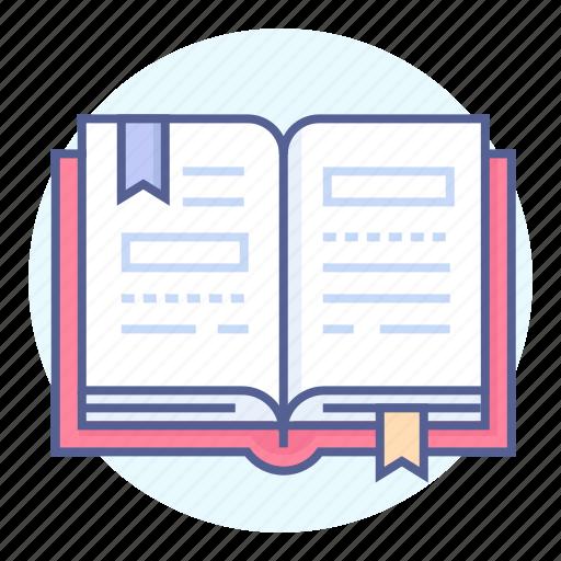 book, bookmark, diary, manual icon