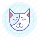 cat, pet, quiet, sleeping icon